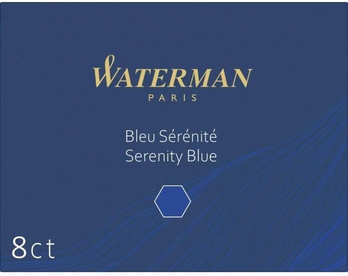S0110860 Стандартные картриджи с синими чернилами для перьевой ручки waterman