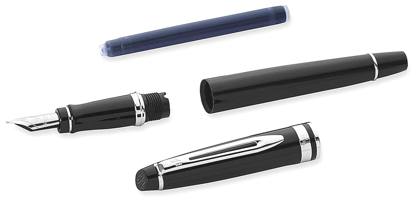 Набор Waterman 2020: перьевая Expert 3 Essential, Laque Black CT (Перо M) + чехол для ручки, фото 6