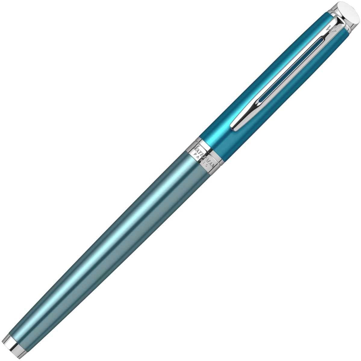 Ручка перьевая Waterman Hemisphere Deluxe 2020, Sea Blue CT (Перо F), фото 4