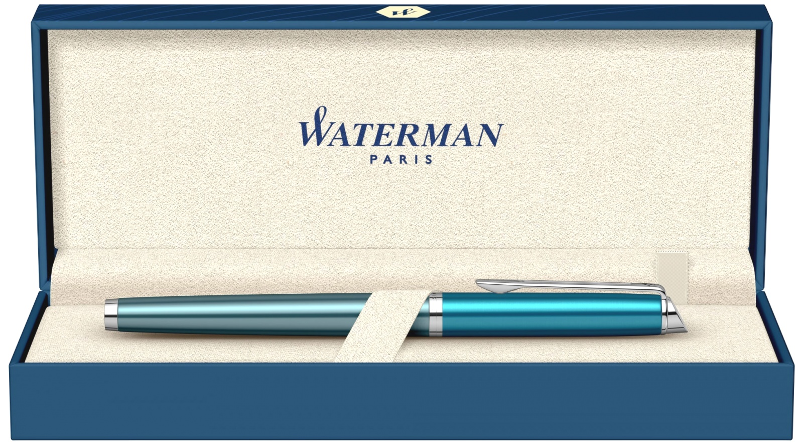 Ручка перьевая Waterman Hemisphere Deluxe 2020, Sea Blue CT (Перо F), фото 6