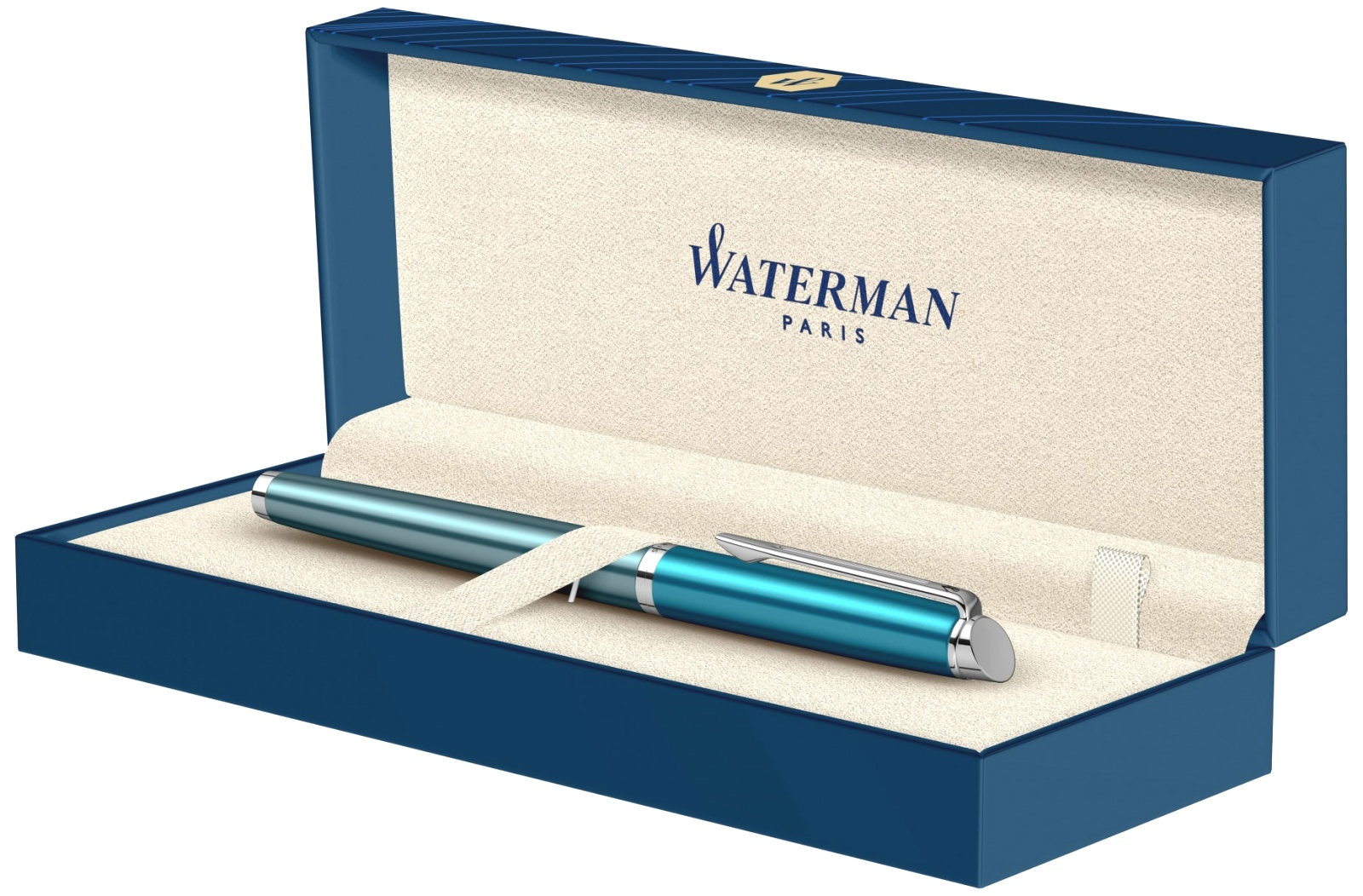 Ручка перьевая Waterman Hemisphere Deluxe 2020, Sea Blue CT (Перо F), фото 7