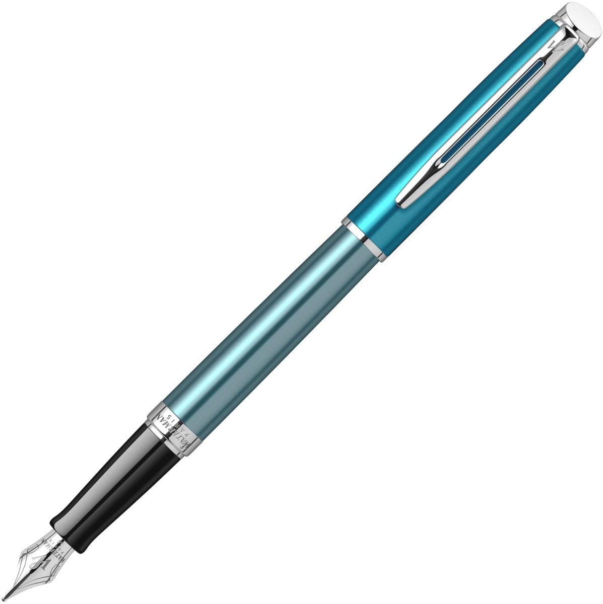 Ручка перьевая Waterman Hemisphere Deluxe 2020, Sea Blue CT (Перо F)