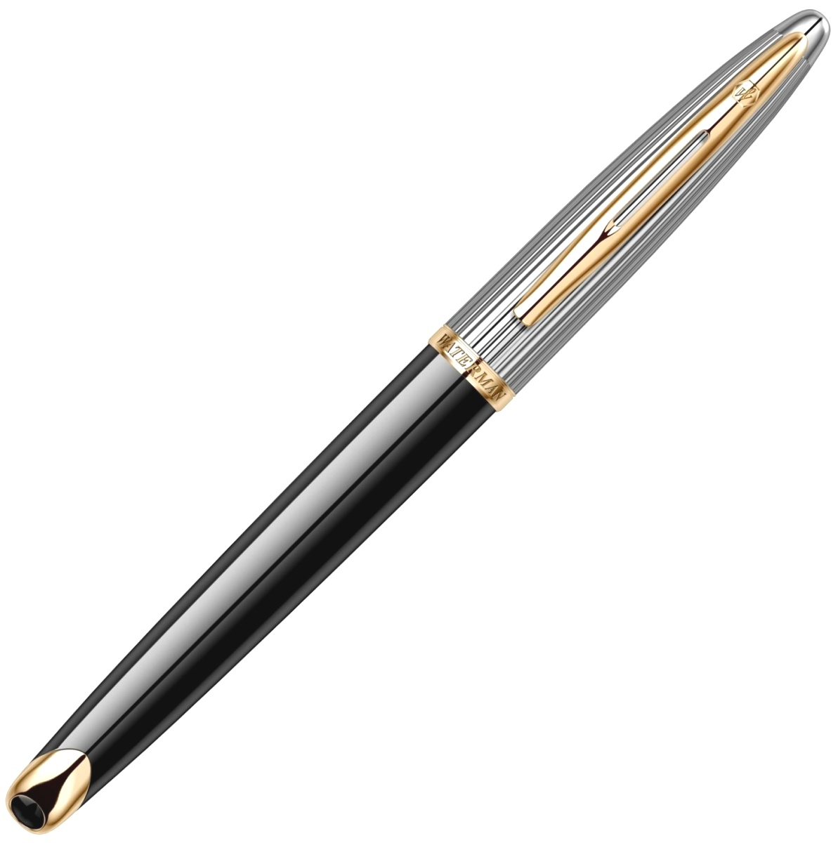 Ручка-роллер Waterman Carene DeLuxe, Black GT, фото 4