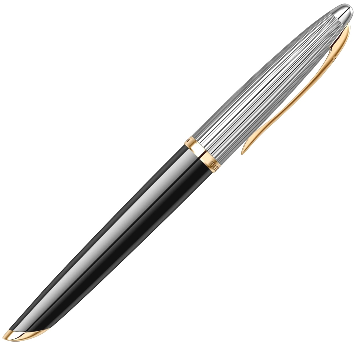 Ручка-роллер Waterman Carene DeLuxe, Black GT, фото 5