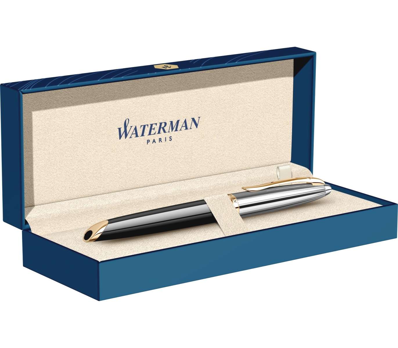 Ручка-роллер Waterman Carene DeLuxe, Black GT, фото 9