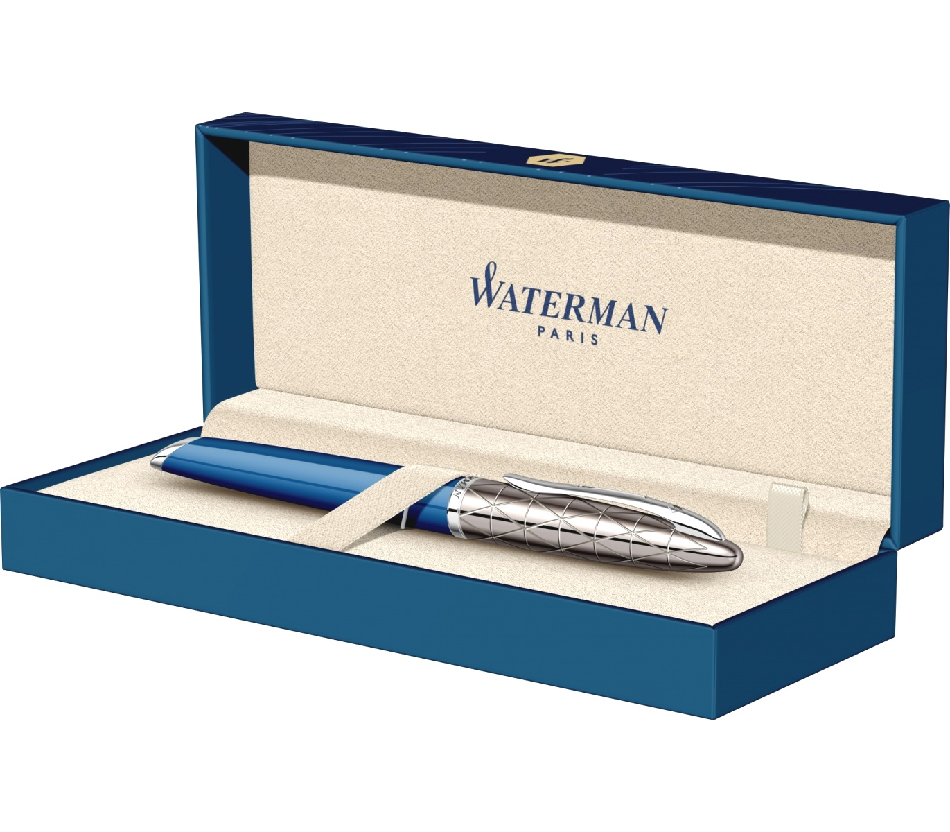 Ручка-роллер Waterman Carene Deluxe, Obsession Blue Lacquer / Gunmetal, фото 8
