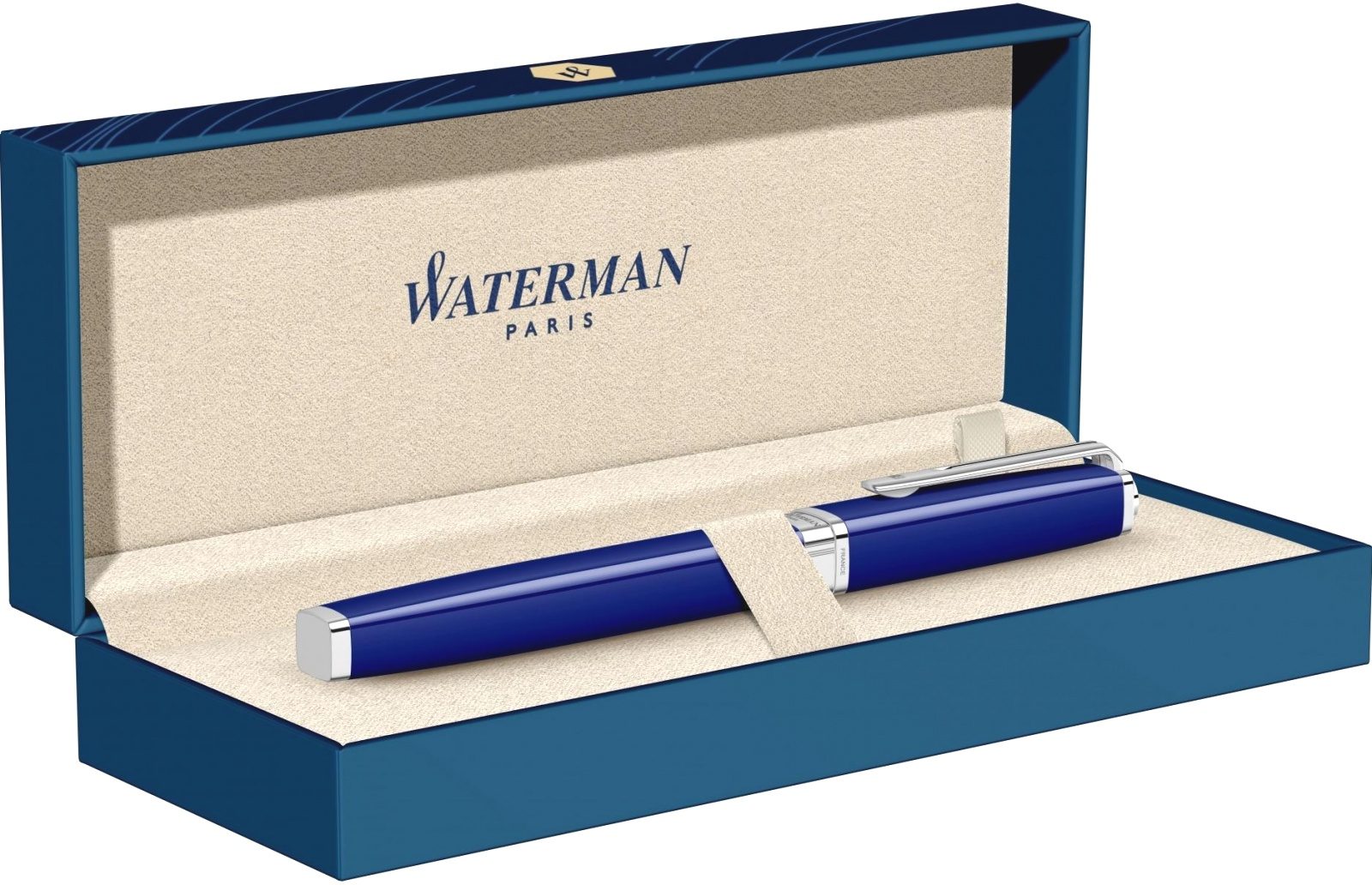 Ручка-роллер Waterman Exception Slim, Blue Lacquer ST, фото 4