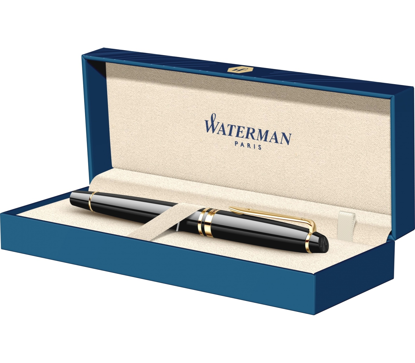 Ручка-роллер Waterman Expert 3 Essential, Laque Black GT, фото 7