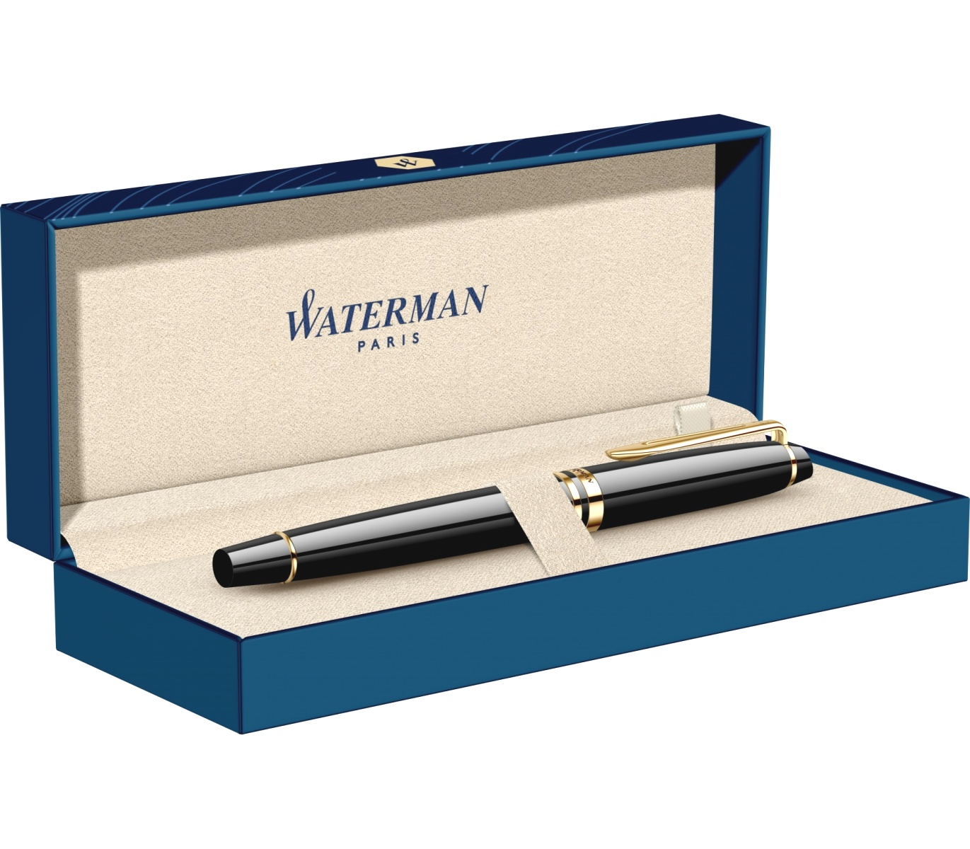 Ручка-роллер Waterman Expert 3 Essential, Laque Black GT, фото 8