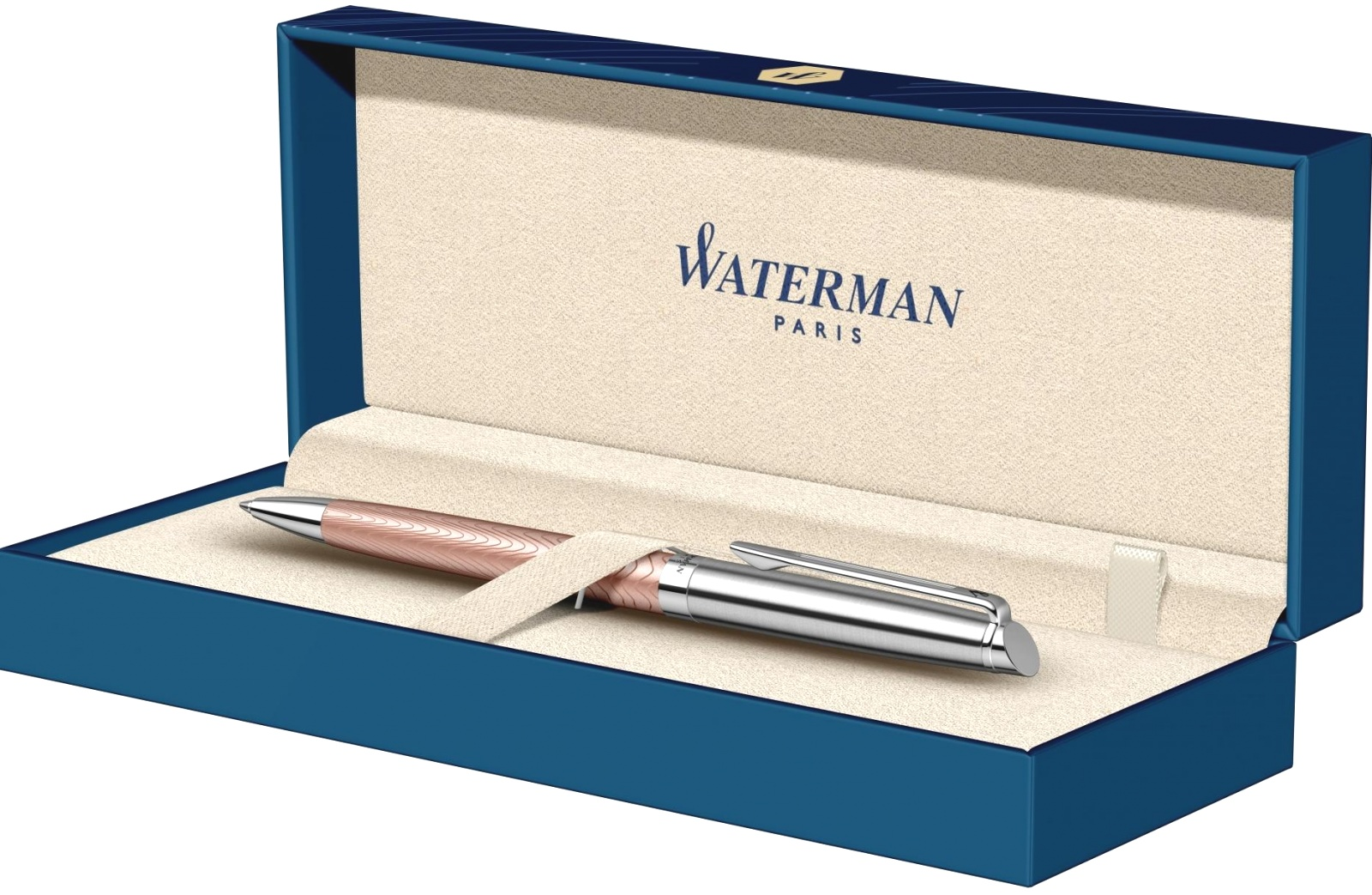 Ручка шариковая Waterman Hemisphere Deluxe 2018, Rose Wave CT, фото 4