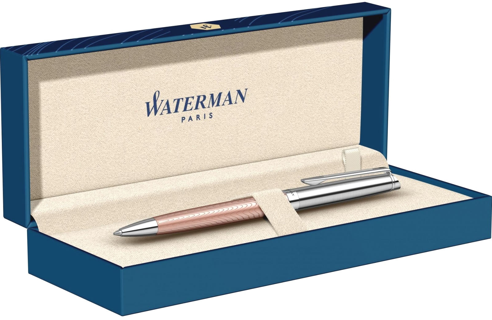 Ручка шариковая Waterman Hemisphere Deluxe 2018, Rose Wave CT, фото 5