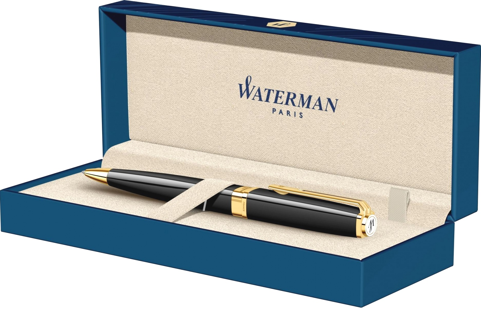 Шариковая ручка Waterman Exception Slim, Black Lacquer GT, фото 5