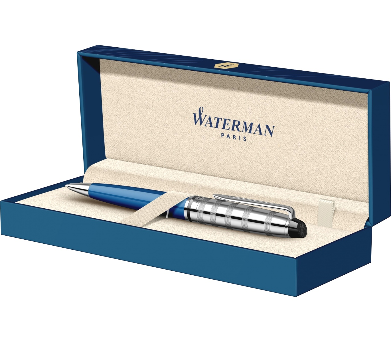 Шариковая ручка Waterman Expert 3 Deluxe, Blue Obsession CT, фото 4
