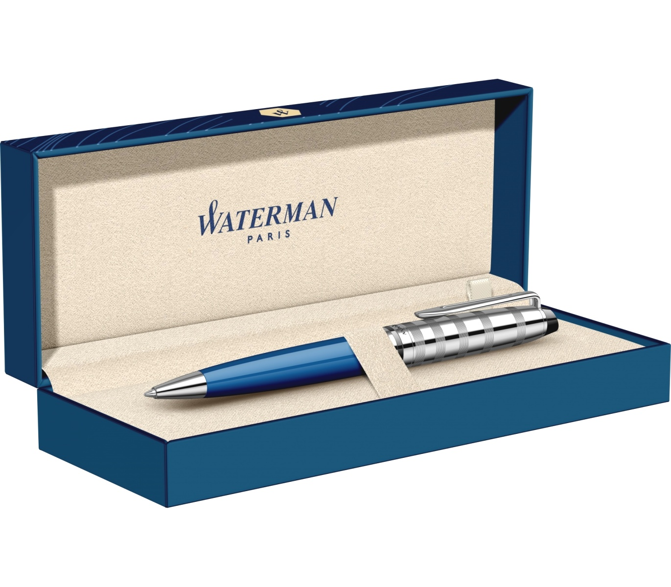 Шариковая ручка Waterman Expert 3 Deluxe, Blue Obsession CT, фото 5