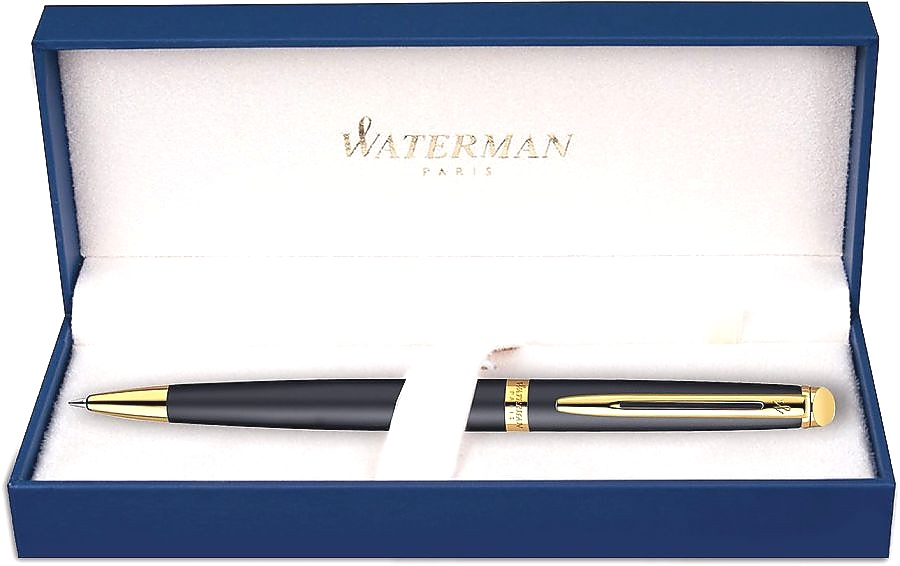 Шариковая ручка Waterman Hemisphere Essential, Matt Black GT, фото 2